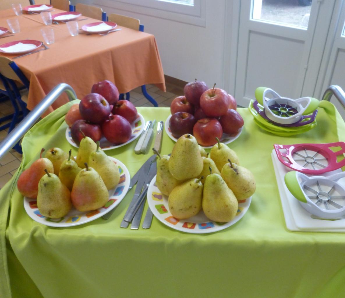 """Petit déjeuner pédagogique : table """"Fruits"""" classe CP"""