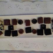 Goûter de Noël : assortiment de chocolats (artisan chocolatier)